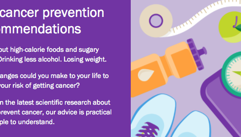 Diet and cancer prevention at a glance