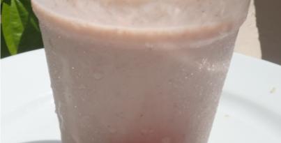 High protein matcha blueberry smoothie